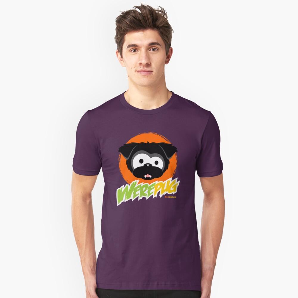 Black WerePug - Dark Apparel Unisex T-Shirt Front