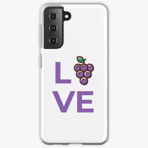 Love Grapes Fruit Samsung Galaxy Soft Case