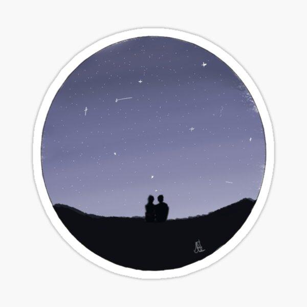 Lovers under the stars Sticker