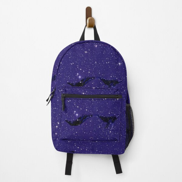Flying Whales in space with stars Backpack