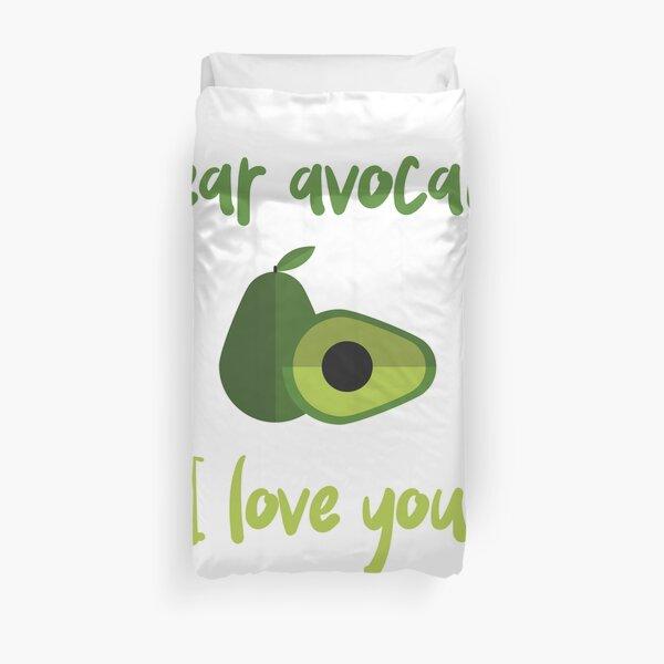 Dear Avocado I Love You Duvet Cover