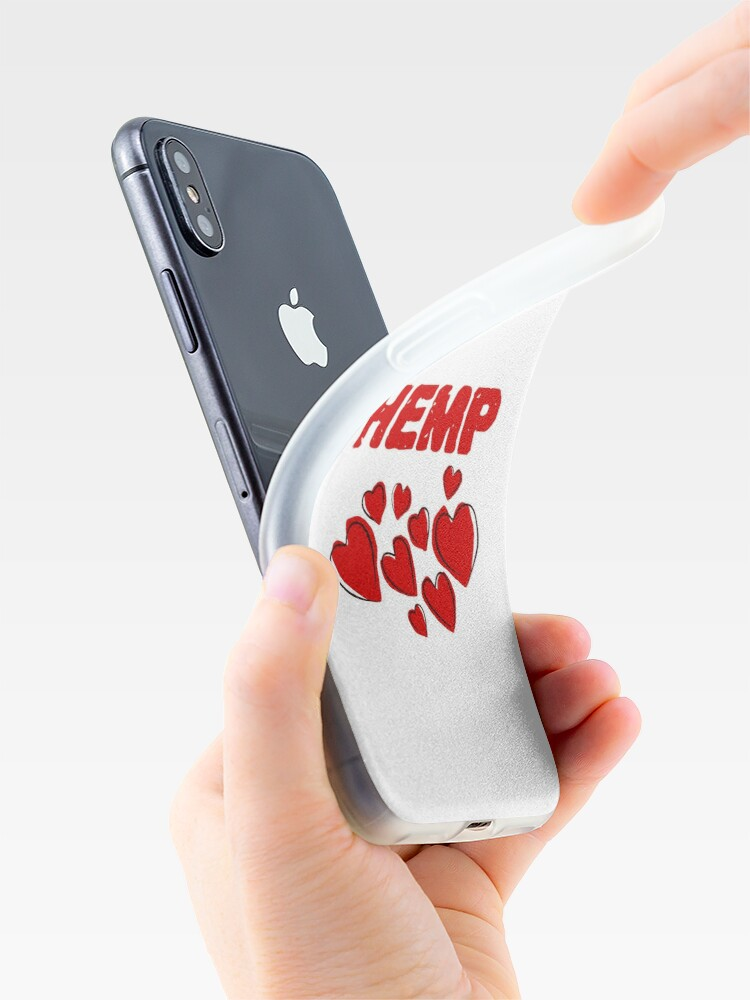 Alternate view of Hemp Hearts Love iPhone Case & Cover