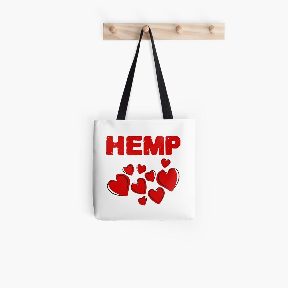Hemp Hearts Love Tote Bag