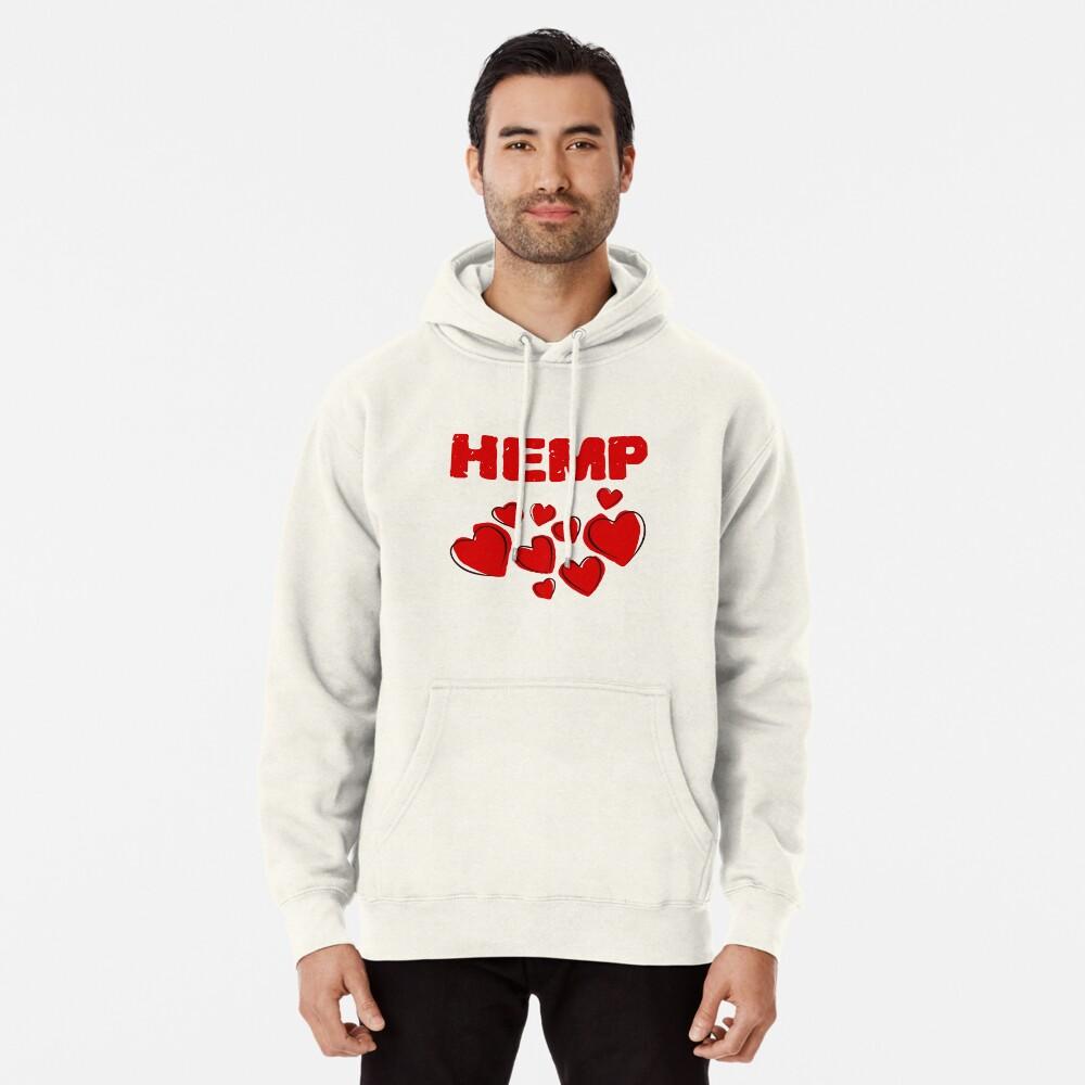 Hemp Hearts Love Pullover Hoodie
