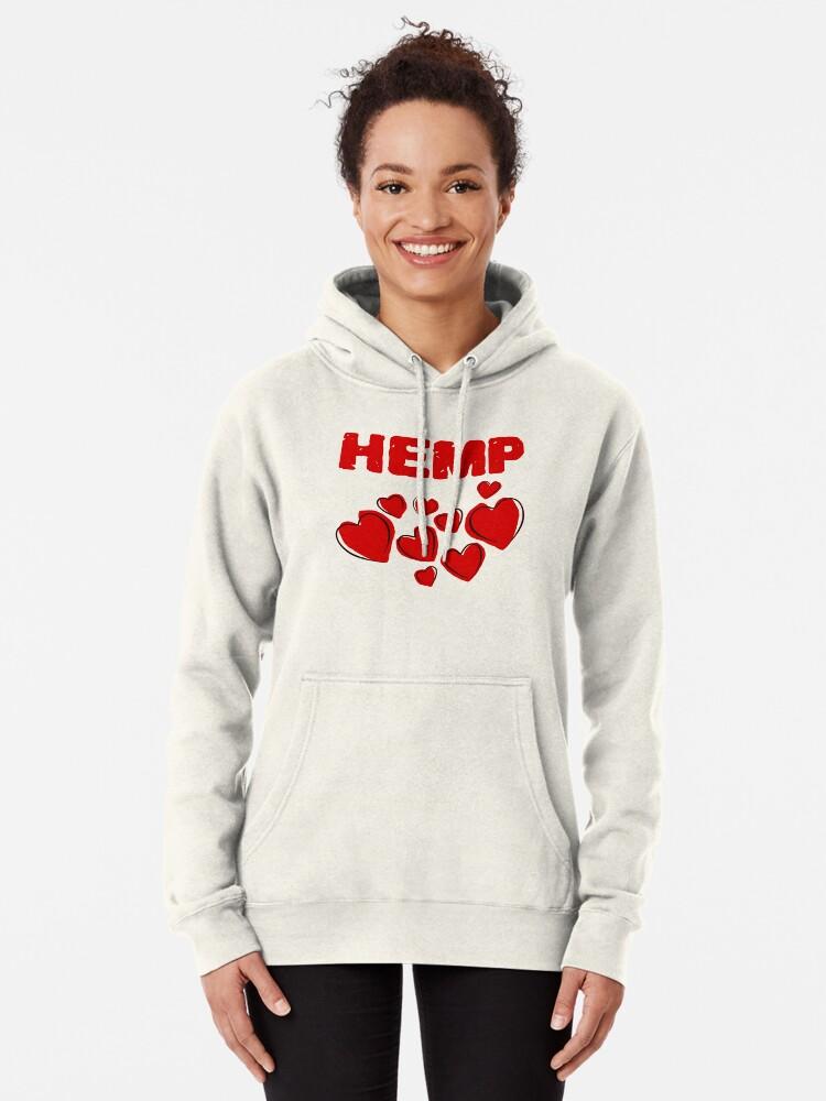 Alternate view of Hemp Hearts Love Pullover Hoodie