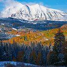 Kebler Pass Fall Snow by Luann wilslef