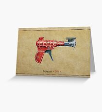 Raygun 002 Greeting Card