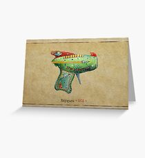 Raygun 003 Greeting Card