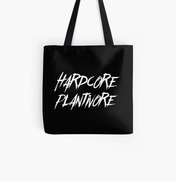 Hardcore Plantivore White All Over Print Tote Bag
