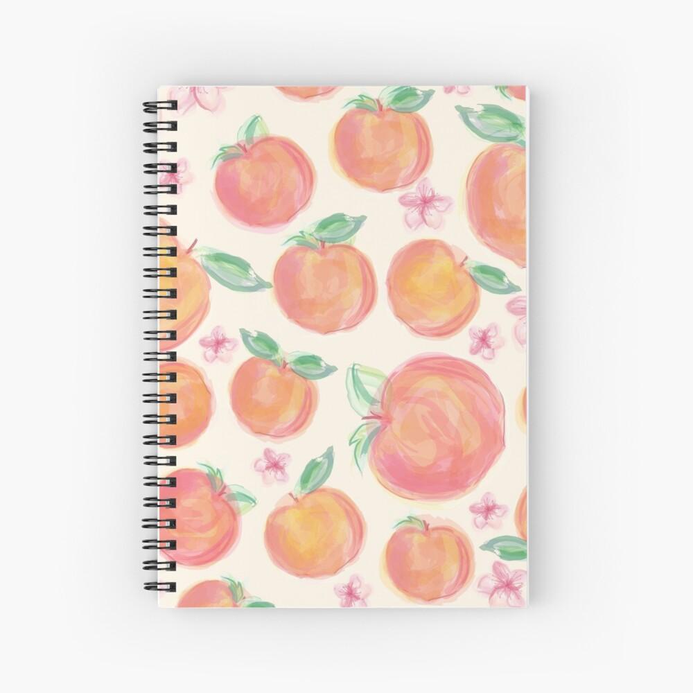Peaches Botanical Spiral Notebook