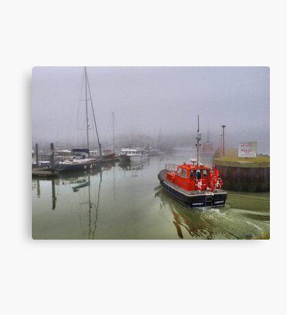 Foggy Lowestoft Canvas Print