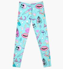Girly Pastel Witch Goth Pattern Leggings
