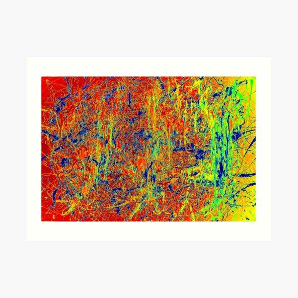 Arte abstracto original de la pintura de Jackson Pollock Lámina artística