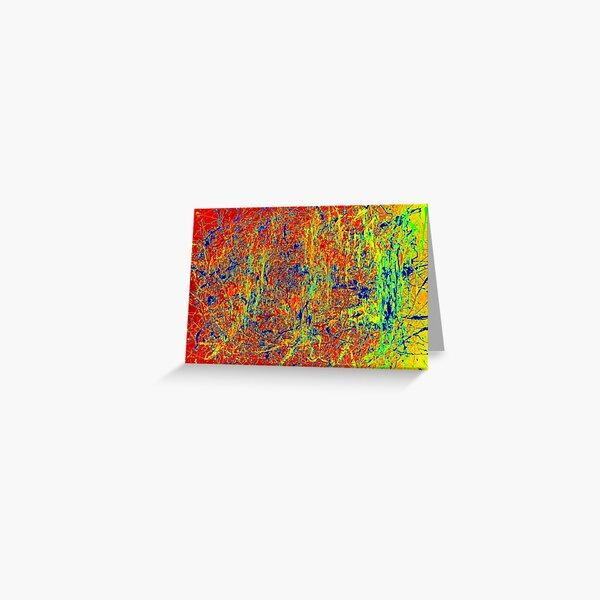Original Abstract Jackson Pollock Painting Art Greeting Card
