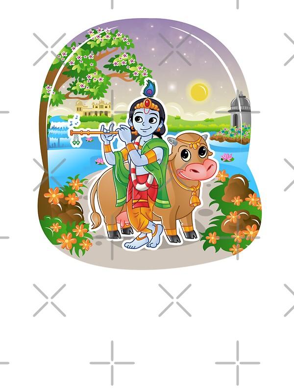 """""""Krishna - Hindu God - Bunch of Bhagwans"""" Stickers by ..."""