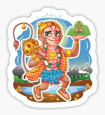 Hanuman - Hindu God - Bunch of Bhagwans Sticker