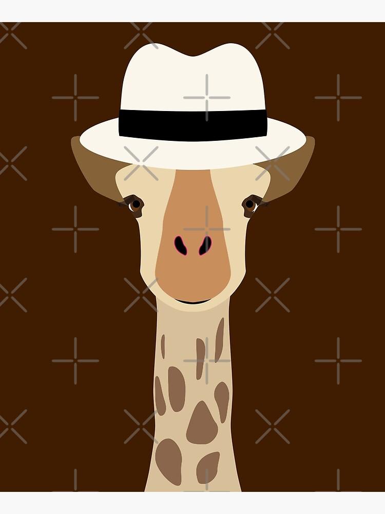 NDVH Giraffe Wearing a Fedora by nikhorne
