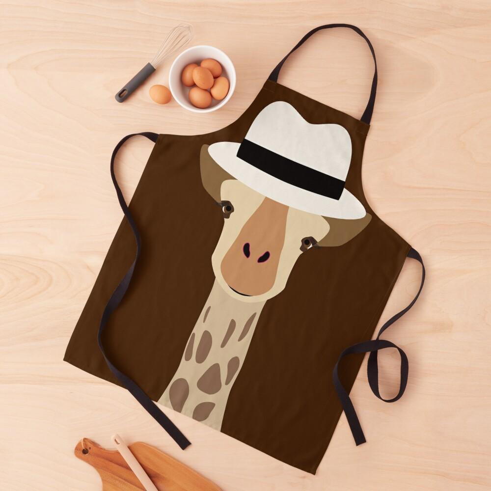 NDVH Giraffe Wearing a Fedora Apron