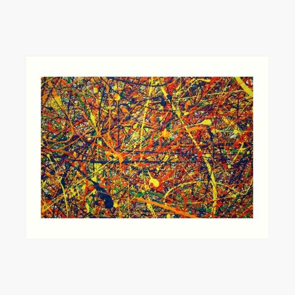 Abstracto Jackson Pollock Pintura Arte Original Lámina artística