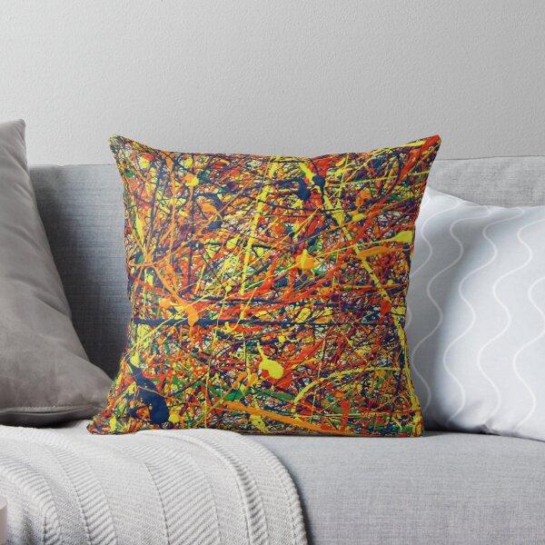 Abstract Jackson Pollock Painting Original Art  Throw Pillow