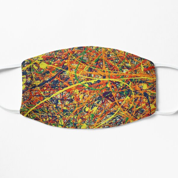 Abstrait Jackson Pollock peinture Art Original Masque sans plis
