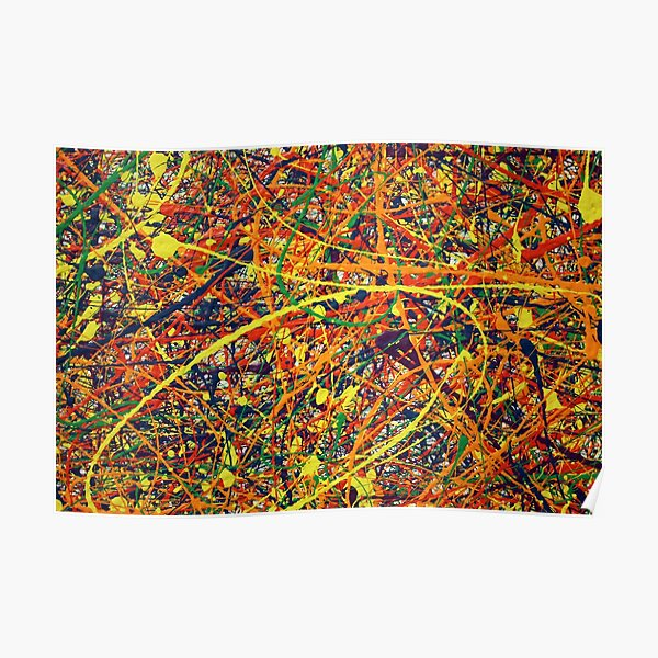 Abstrait Jackson Pollock peinture Art Original Poster