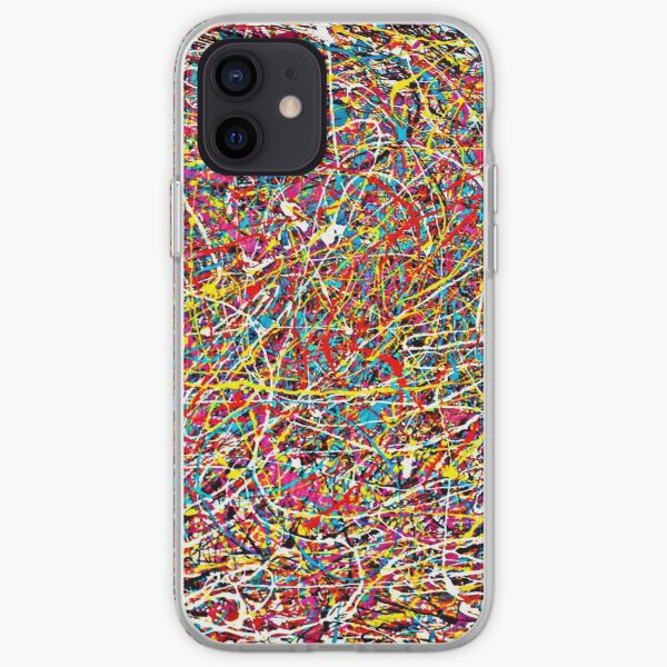 Original Abstract Jackson Pollock Painting Style  iPhone Soft Case