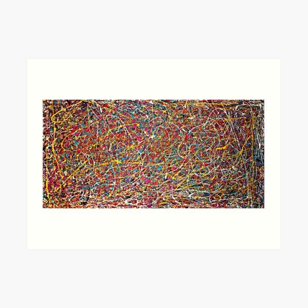 Estilo original original de la pintura de Jackson Pollock Lámina artística