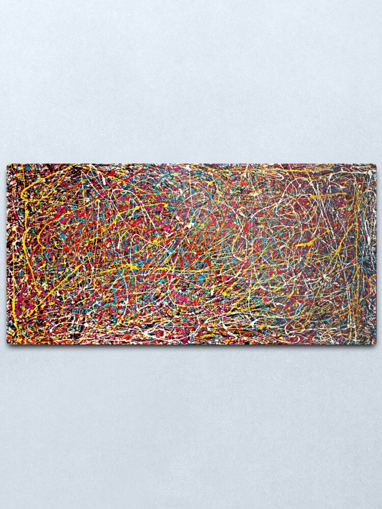 Alternate view of Original Abstract Jackson Pollock Painting Style  Metal Print