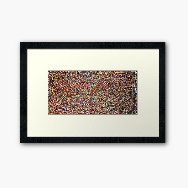 Original Abstract Jackson Pollock Painting Style  Framed Art Print