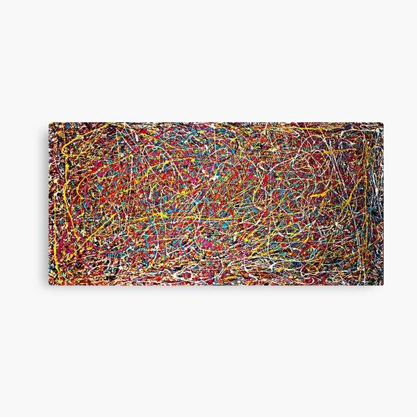 Original Abstract Jackson Pollock Painting Style  Canvas Print