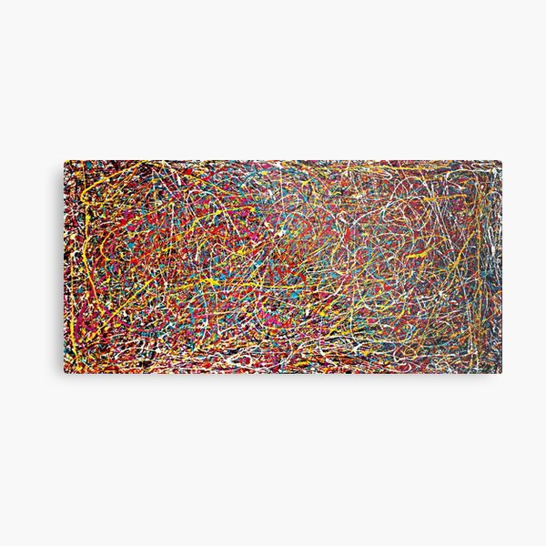 Original Abstract Jackson Pollock Painting Style  Metal Print