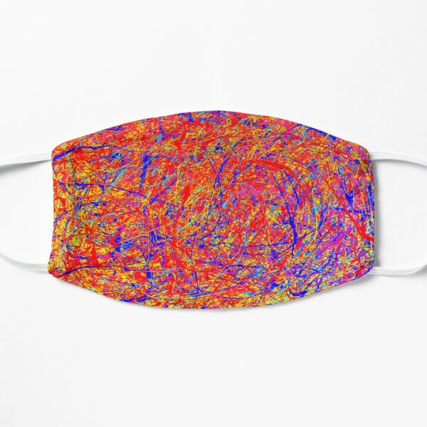 Abstract Jackson Pollock Style Color  Flat Mask