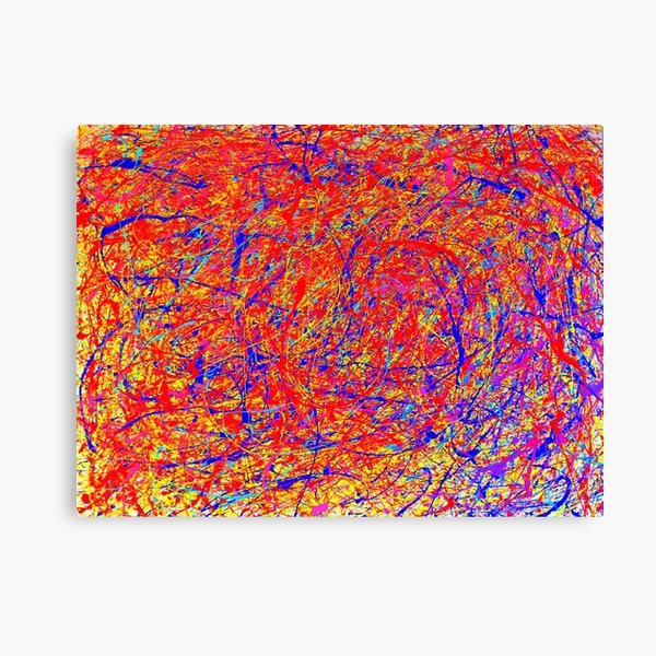 Abstract Jackson Pollock Style Color  Canvas Print