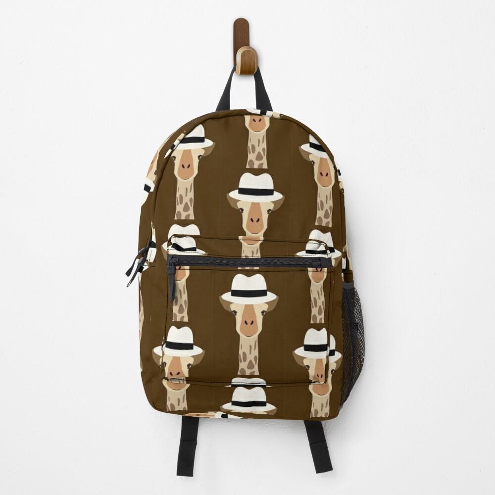 NDVH Giraffe Wearing a Fedora Backpack
