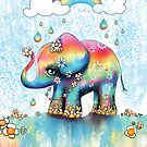 Little Rainbow Elephant by © Karin Taylor