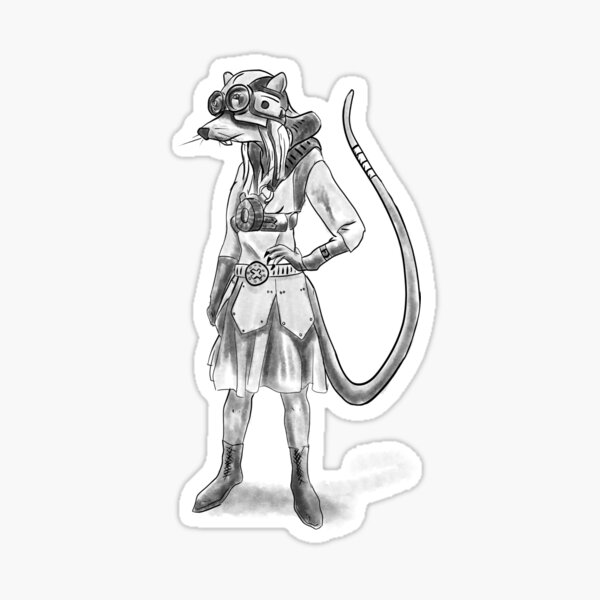 An airship pilot from Brass Rings the RPG Sticker