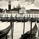 Gondolas in Venice by sumners