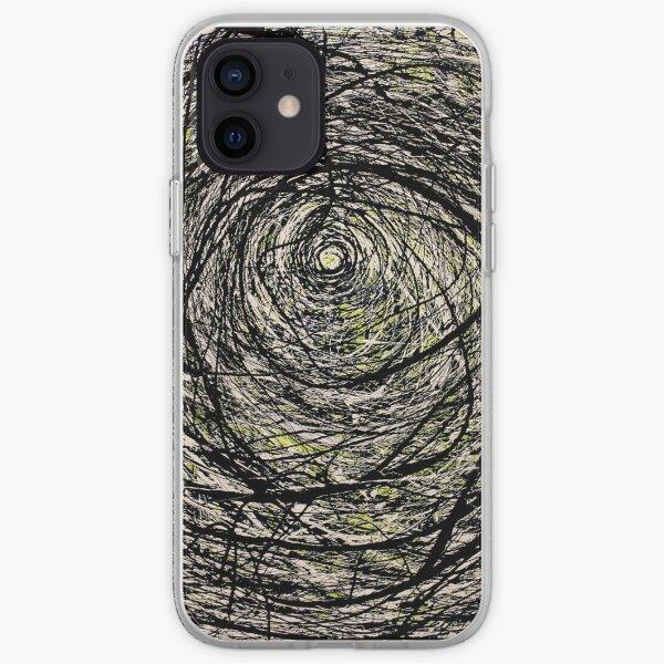 Original Spiral Abstract Jackson Pollock Style Artwork iPhone Soft Case