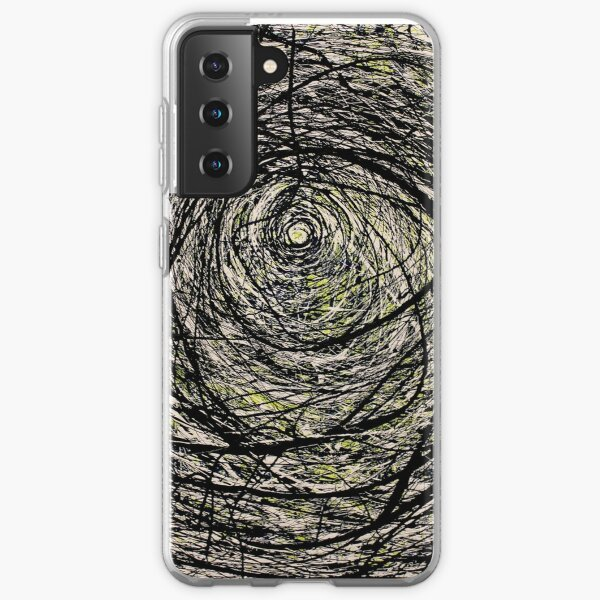 Original Spiral Abstract Jackson Pollock Style Artwork Samsung Galaxy Soft Case