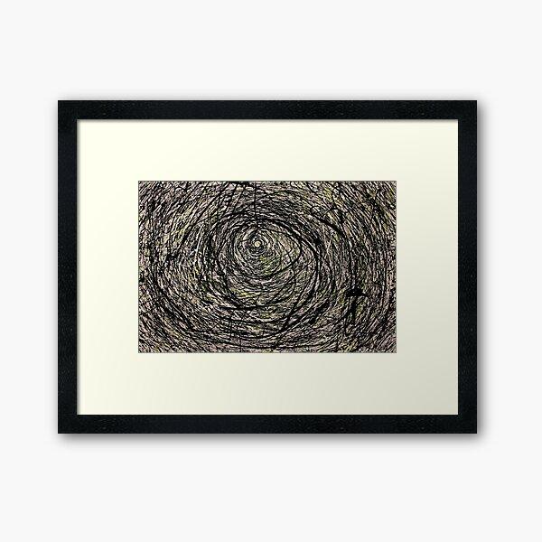 Original Spiral Abstract Jackson Pollock Style Artwork Framed Art Print