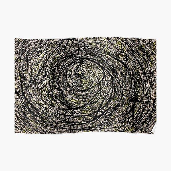 Oeuvre originale de style abstrait en spirale Jackson Pollock Poster
