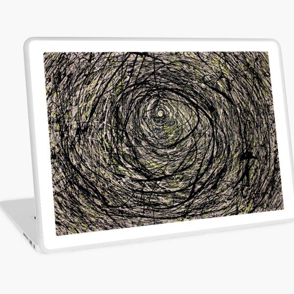 Original Spiral Abstract Jackson Pollock Style Artwork Laptop Skin