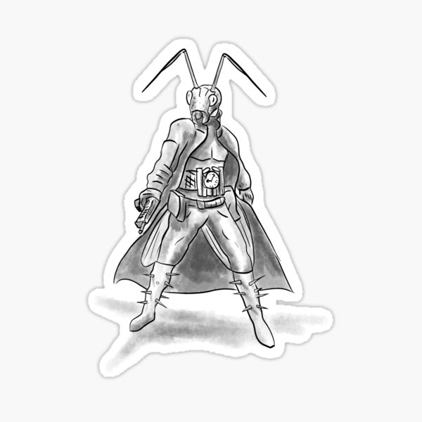 Steampunk cricket from Brass Rings the RPG Sticker