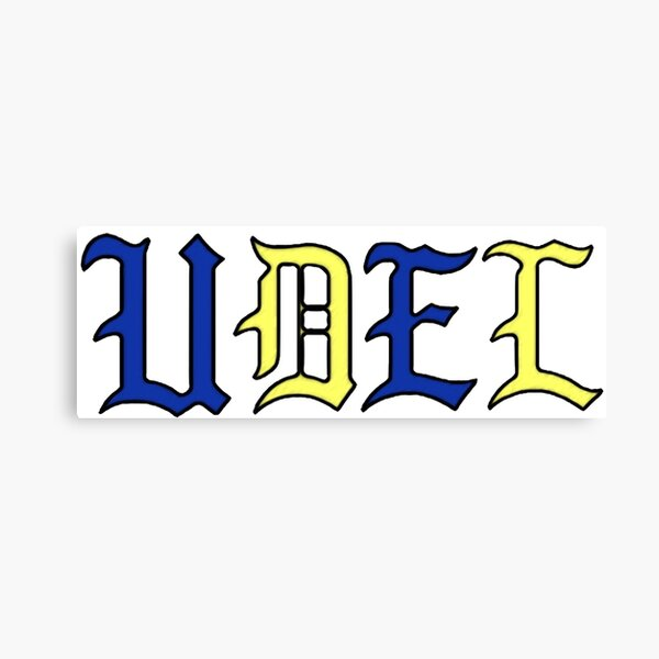UDEL STICKER Canvas Print