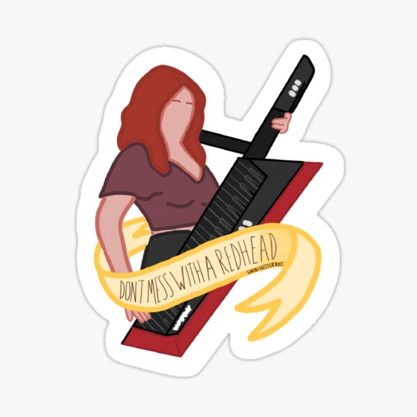 Don't Mess With A Redhead Sticker