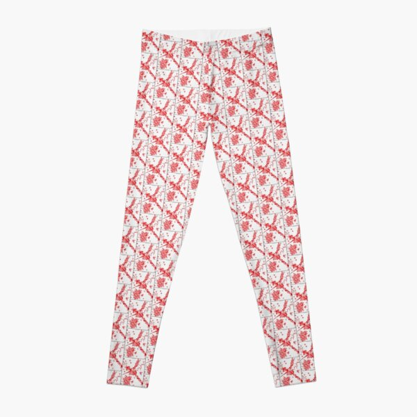 Graphic RED Doodle Leggings