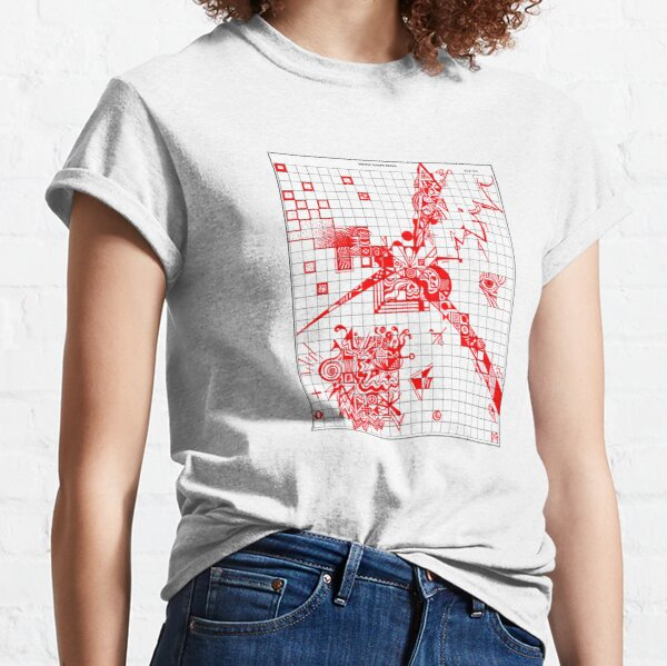 Graphic RED Doodle Classic T-Shirt