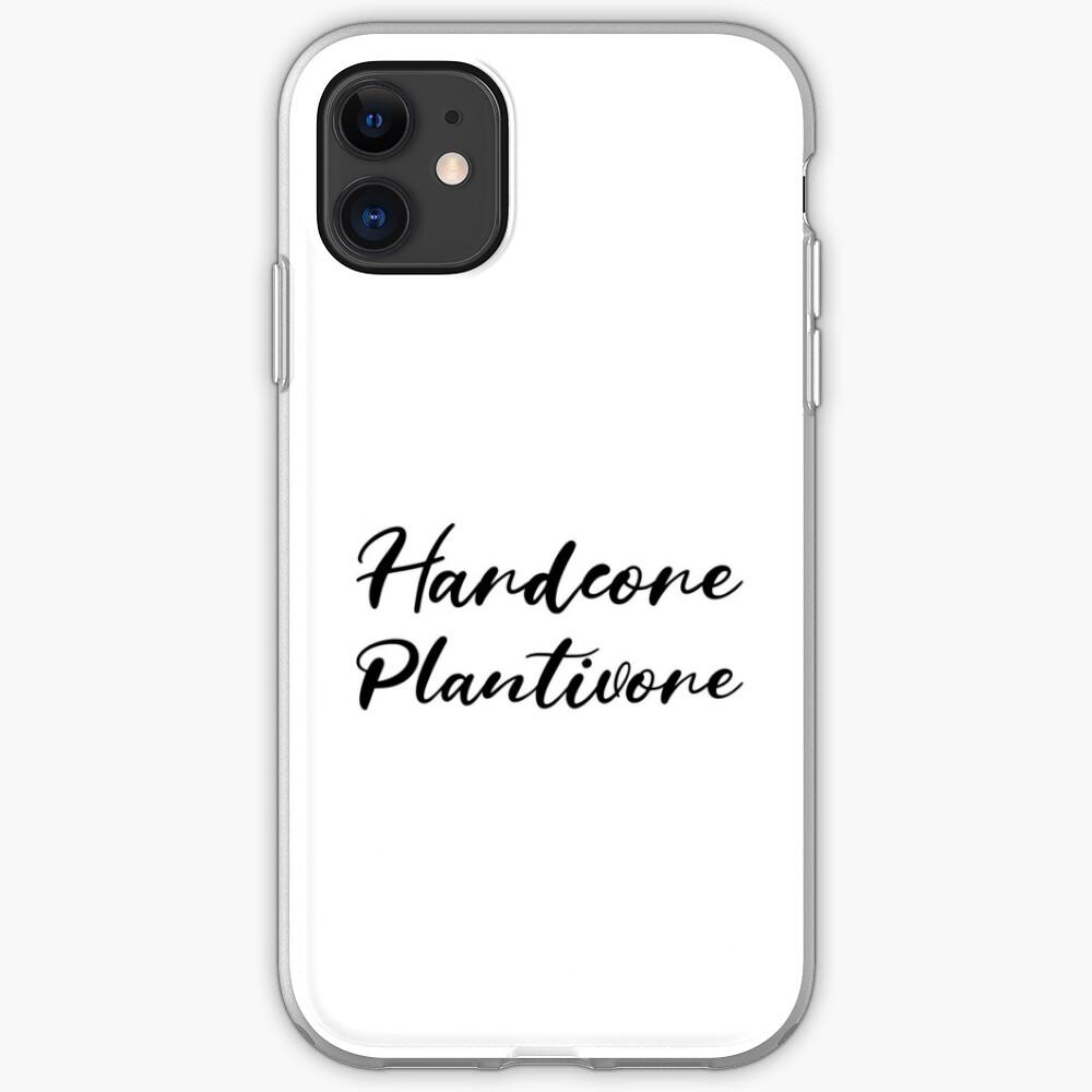 Hardcore Plantivore Black iPhone Case & Cover