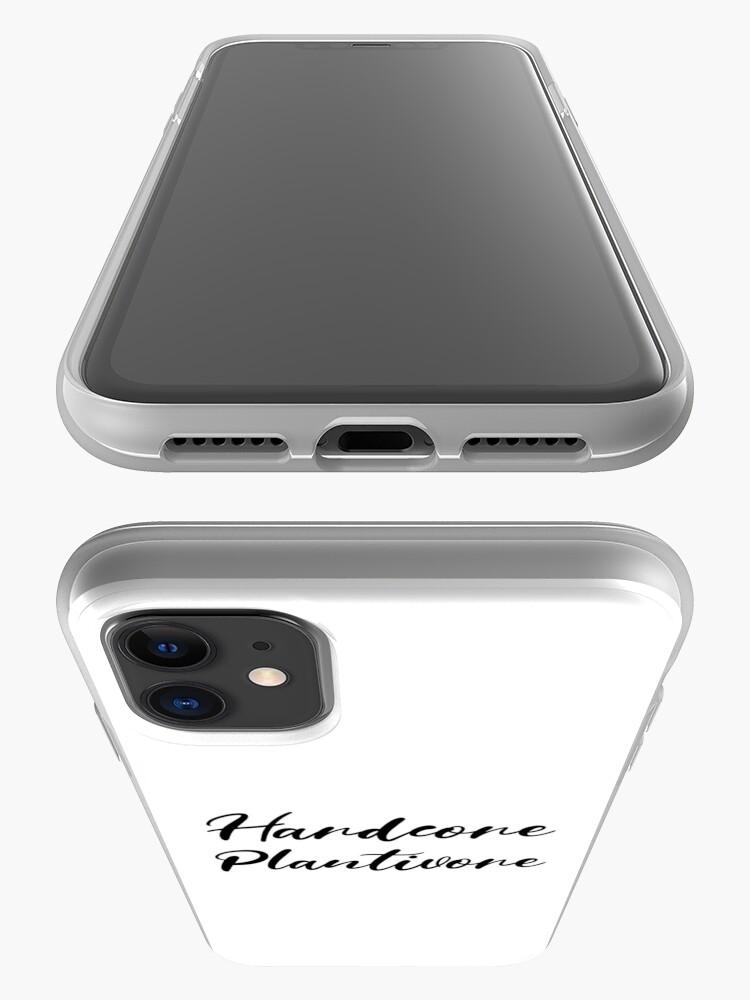 Alternate view of Hardcore Plantivore Black iPhone Case & Cover